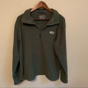 Drake Olive Green Quarter Zip Pullover Jacket